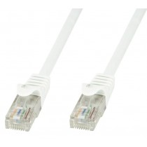 Cavo di rete Patch in CCA Cat.5E Bianco UTP 20m-Techly Professional-ICOC CCA5U-200-WHT
