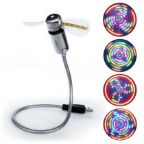 Ventola USB 2.0 con 5 LED Colorati -Techly-IUSB-FAN3