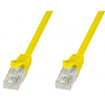 Cavo di rete Patch in CCA Cat.5E Giallo UTP 10m-Techly Professional-ICOC CCA5U-100-YET