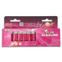 Blister 12 Batterie Power Plus Stilo AA Alcaline LR06 1 5V-Techly-IBT-KAP-LR06-B12T