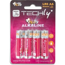 Blister 4 Batterie Power Plus Stilo AA Alcaline LR06 1 5V-Techly-IBT-KAP-LR06T
