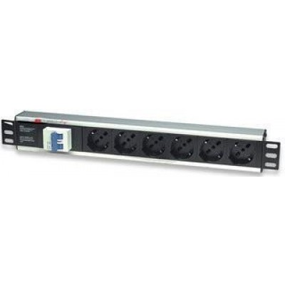 6 Sockets Rack Pdu 19 With Thermal Magnetic I Case Strip 16a
