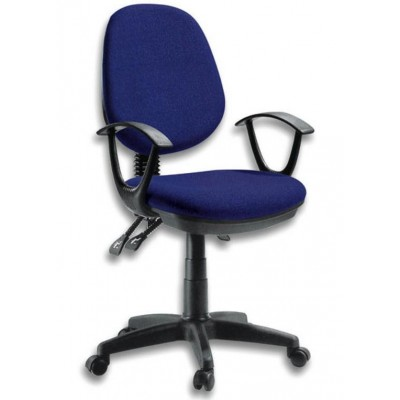 Delux Office Chair Blue-ICA-CT P18BL-Techly