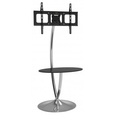 Floor Support with Round Base and Shelf for LCD/LED TV 32-70\