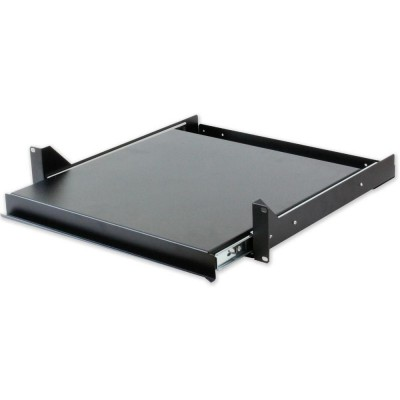 Pull-out Shelf for Keyboard Rack Black Gate-I-CASE TRAY-5-BK-Techly Professional