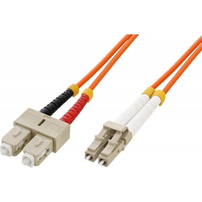 Fiber Optic Cable SC/LC 62.5/125 Multimode 5m OM1-ILWL D6-SCLC-050-Techly Professional