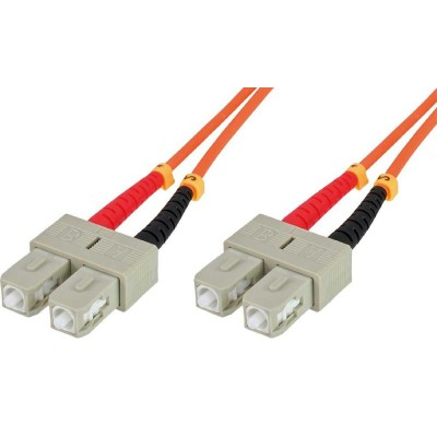 SC/SC Multimode 62.5/125 OM1 10m Fiber Optics Cable-ILWL D6-B-100-Techly Professional