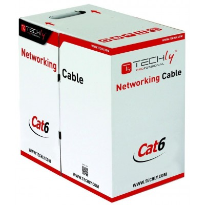 U/UTP Hank Copper Cable Cat.6 305m Solid Grey-ITP-C6U-RI-Techly Professional